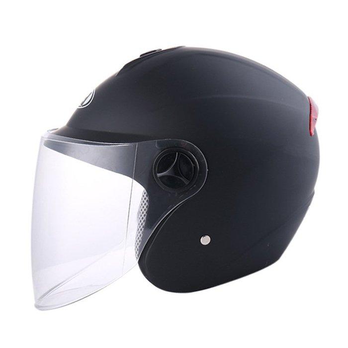 機車頭盔 摩托車頭盔 電動車半盔防曬頭盔四季通用保暖頭盔