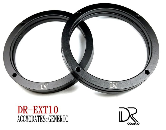 DR coustic鑄鋁合金專車專用喇叭轉接座 DR-EXT10 : GENERIC(通用款)