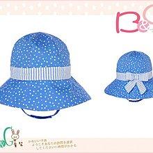 【B& G童裝】正品美國進口GYMBOREE點點圖樣藍色繫帶遮陽帽12-18-24mos