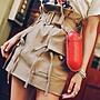 PapaDarling 20SS 獨家設計款 時尚氣質工裝設計感高腰 短裙