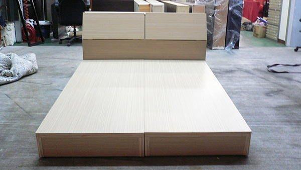 樂居二手家具館 全新中古傢俱賣場 B576*全新雙人床底含床頭*床組/床板/床箱/床架 中古床墊大特價