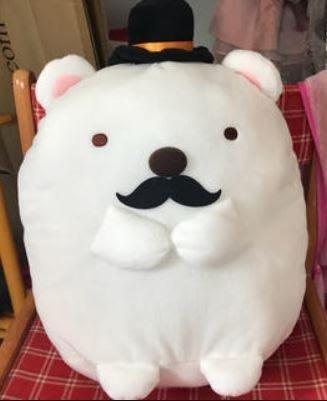 AQI BUY San-X 角落生物/精靈/公仔 白熊 鬍子造型 / 企鵝 紳士造型 娃娃 玩偶 布偶 日本正版