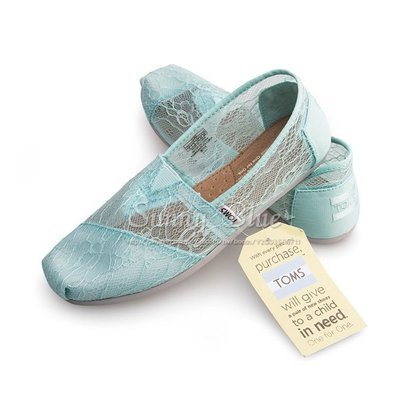 【TOMS】(女)TOMS Mint Lace 蕾絲休閒懶人鞋-薄荷綠 台北市