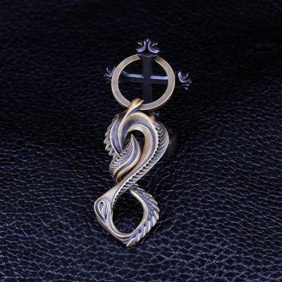 【Silver Monsters】日本匠級曲線異形Ability Normal 黃銅鑰匙扣