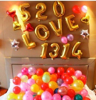 愛情類主題#4  520 love 1314主題布置氣球套餐告白求婚DIY佈置KTV套房酒吧拍照道具