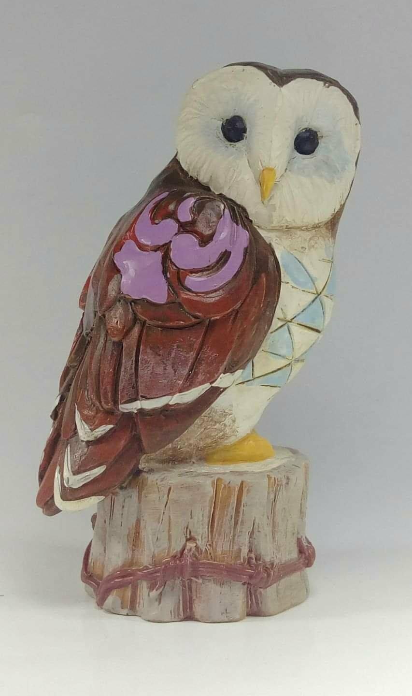 美國 貓頭鷹 Jim Shore 倉鴞小雕像