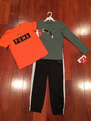 Puma 男童套裝 包括運動長褲, 短T, 長T . 尺寸7歲