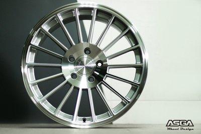 《大台北》億成汽車鋁圈量販中心-ASGA鋁圈 NP52 銀底亮面 18吋