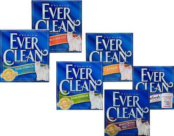 【🐱🐶培菓寵物48H出貨🐰🐹】EverClean|鐵鎚超強除臭低敏結塊貓砂1公斤分裝包 特價59元