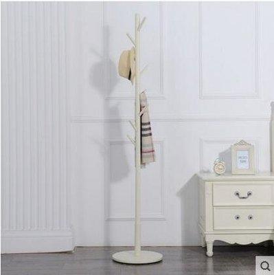 【優上】實木衣帽架 落地掛衣架臥室衣服架子歐式衣掛簡易立式帽子架「白色」