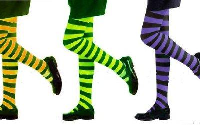 【洋洋小品橫條褲襪 細版斑馬造型褲襪  雙色彈性褲襪 小丑襪 】萬聖節服裝聖誕節造型裝扮服聖誕舞會派對洋裝表演