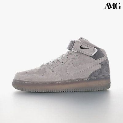 REIGNING CHAMP X NIKE AIR FORCE 1 中筒百搭板鞋「暗灰」807618-200