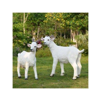 田園裝飾園林景觀小品戶外仿真綿羊動物雕塑花園庭院山羊樹脂擺件小豬佩奇