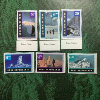 【大三元】紐澳郵票-032紐西蘭 羅斯屬地-冰凍內攝影-新票6全1套-原膠上品