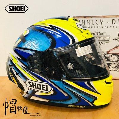 【帽牧屋】日本 SHOEI X14 DAIJIRO TC-3 全罩式安全帽 進口帽 選手帽 公司貨 加藤大治郎 藍/黃
