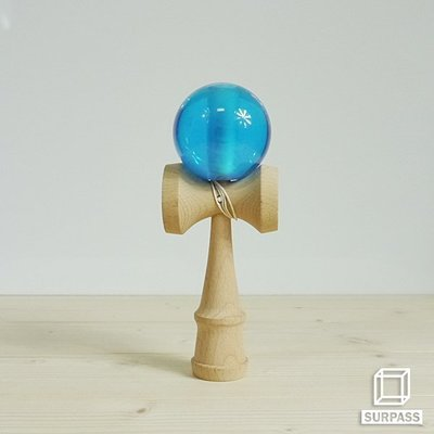 『Surpass』木質劍玉劍球 Crystal 水晶系列 天青色