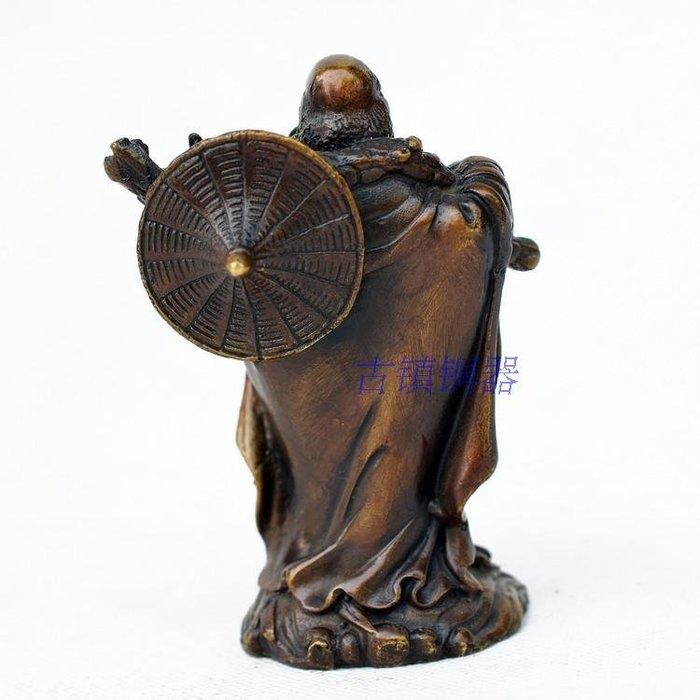 開光黃銅裝飾品簡約客廳擺件達摩祖師現代工藝品純銅家居桌面佛像觀音、如來佛像