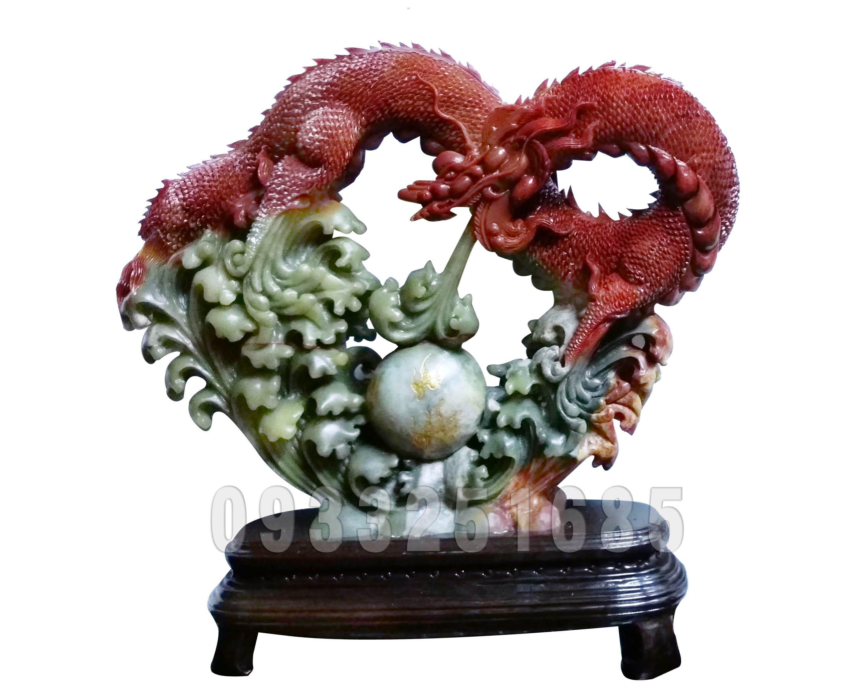壽山石 品名 : 紅龍吐珠