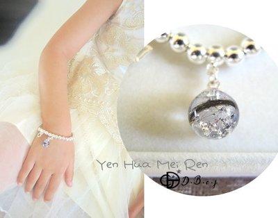 Cindy❤mommy。媽媽親手做。925純銀珠胎毛手鍊/彌月禮盒diy材料包。寶寶開運補運手鍊。。