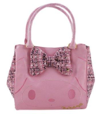 【卡漫迷】美樂蒂 手提包 ㊣版 吸鐵式  日本限定版 限量  晚宴包 淑女包  皮革 手提袋