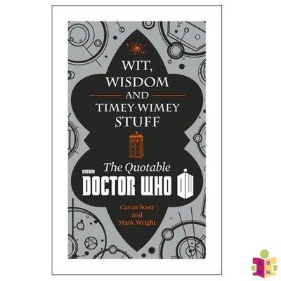 [文閲原版]神秘博士:智慧大師 英文原版 Wit, Wisdom and Timey Wimey Stuff–The Q