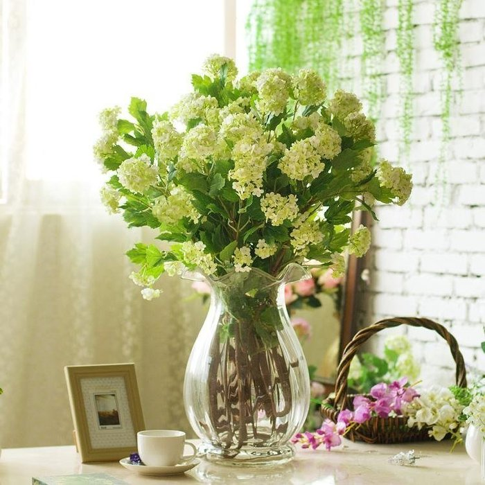INPHIC-長枝八頭繡球大型阿弗洛狄忒水瓶仿真花套裝 2色可選