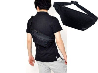 【Admonish】NIKE HOOD WAISTPACK 運動 腰包 斜背包 後背包 側背包 黑白 BA4272-06