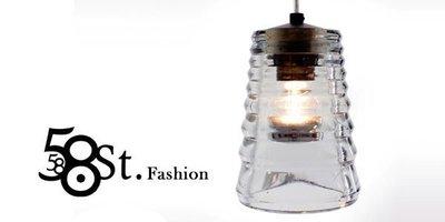 【58街燈飾-高雄館】Pressed Glass Lens Pendant 實心玻璃「 壓玻璃 吊燈,經典款式」複刻版。GH-213