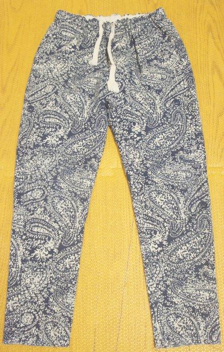 (全新B510) 變形蟲圖騰寬鬆休閒褲 (鬆緊褲圍)