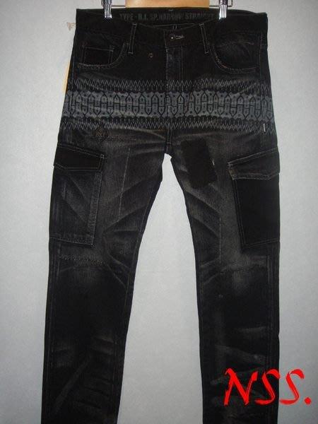 特價【NSS】NEIGHBORHOOD NBHD 10 BLACK ICON B I  Savage SP 黑標 窄版 民族風 六口袋 破壞 黑 M