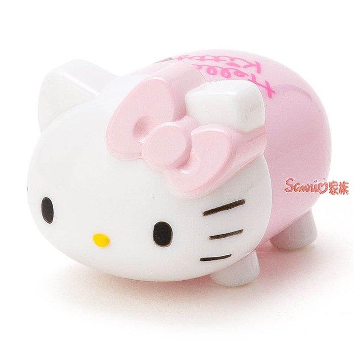 《東京家族》現貨日本三麗鷗Hello kitty可愛公仔造型立體護唇膏草莓香味
