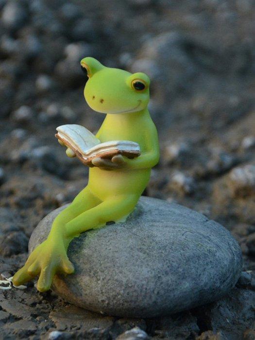田园小青蛙摆件创意微景观可爱动物送男生的礼物七夕情人节米斯特芳