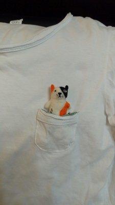 黑橘白長貓羊毛氈客製擺飾 鑰匙圈 別針 磁鐵 項鏈