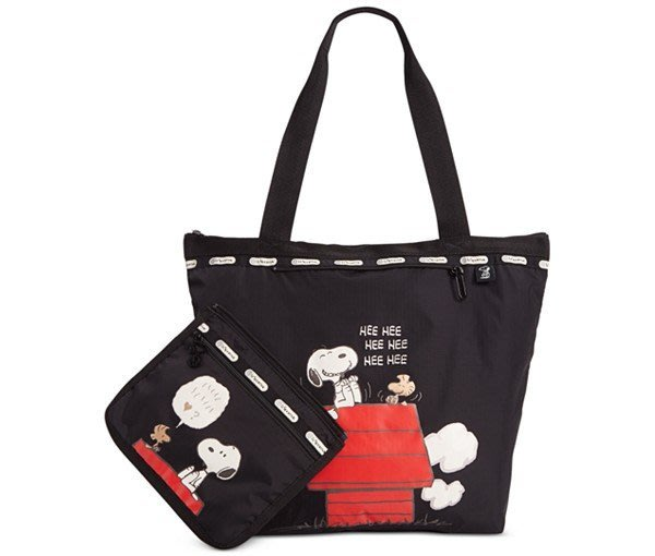 Coco小舖 LeSportsac  Deluxe Hailey Tote  Snoopy 托特包