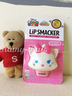 【Sunny Buy寶貝館】◎現貨◎迪士尼 Tsum Tsum Lip Smacker 護唇膏 瑪莉貓 梨子口味
