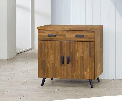 【南洋風休閒傢俱】精選餐櫃系列-碗盤櫃組 餐櫃 櫥櫃 收納櫃-集層木2.7尺碗盤餐櫃 CY357-416