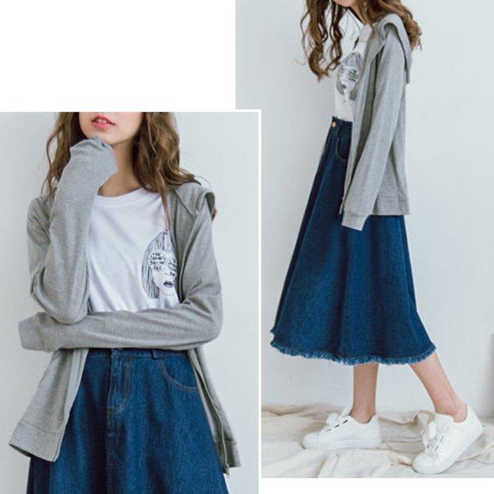 【Hao Da】全館399免運↘「M~XL。現貨」6色 舒適竹節棉 口袋連帽拉鍊薄外套 (O1003)