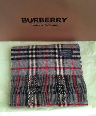 Burberry  (灰黑)經典格紋圍巾(🙋新春優惠價!)
