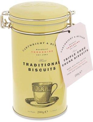 英國代購 CARTWRIGHT & BUTLER  C&B巧克力三部曲手工餅-鐵罐200g