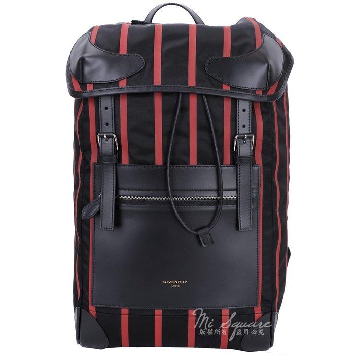 米蘭廣場 GIVENCHY RIDER 紅條紋後背包(黑色) 1541031-26