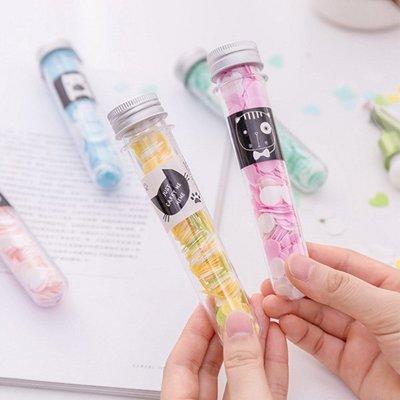 試管花朵愛心圓圈造型攜帶式洗手紙 香皂【JG0774】《Jami》