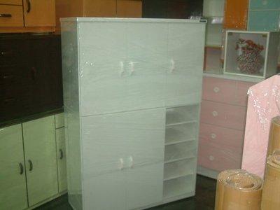 【塑鋼舒美櫥櫃設計~訂做】~不怕水.不脫皮~白色~組合式收納大鞋櫃~塑鋼舒美大鞋櫃~