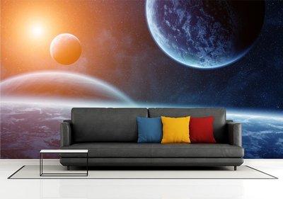 客製化壁貼 店面保障 編號F-439 宇宙星球 壁紙 牆貼 牆紙 壁畫 星瑞 shing ruei