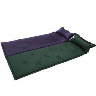 .·°∴1688美妝∴°·.自動充氣行動床墊 睡墊 紫/綠