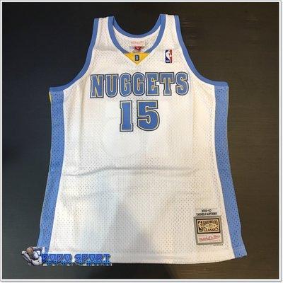 ╭*dodo_sport~NBA 球迷版球衣 Carmelo Anthony 06-07 Home 金塊 白