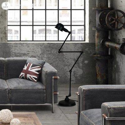 設計師的燈歐式簡約創意復古工業臥室客廳書房機械手臂四節落地燈
