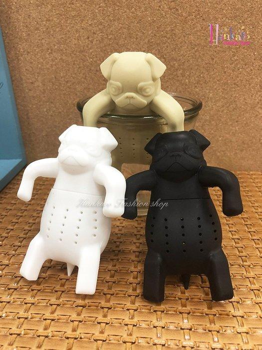 ☆[Hankaro]☆ 創意趣味矽膠哈巴狗造型沖茶器