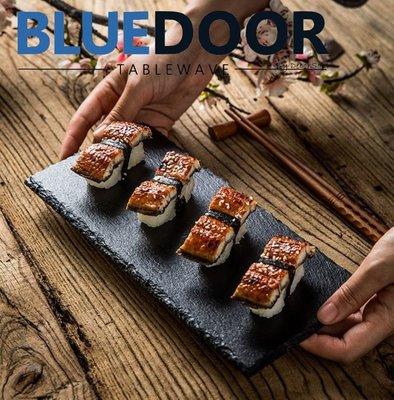BlueD_ 盤子 小號 長盤 板岩盤 炸物盤 岩盤 壽司盤 圓盤 點心盤 餐廳 甜點盤 日式 裝潢 新居入遷 送