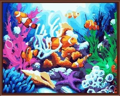 八號倉庫 DIY手繪風景人物花卉數字油畫 40x50【1T112X670】24下標區
