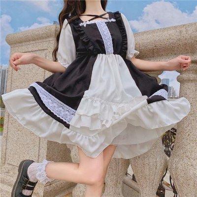 超值日系軟妹 洛麗塔 Lolita 可愛學生 輕lo 短袖連衣裙 大擺裙 甜美 超讚~  椿屋小奈 /obligation